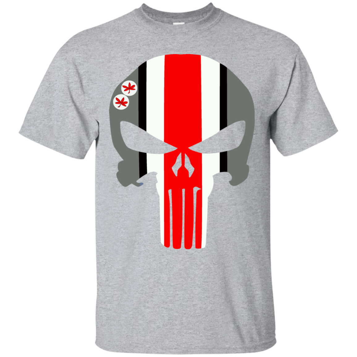 Ohio State Ugly Christmas Sweater.Punisher Style Fan Shirt Inspired By Thee Ohio State Buckeyes